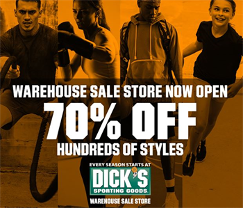 Dick's Sporting Goods Warehouse Sale Store Art